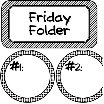 Friday Folder Labels