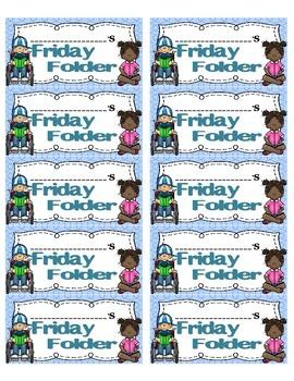 Friday Folder Labels