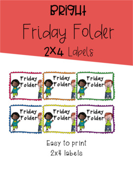 2x4 Friday Folder Labels