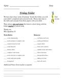 Friday Folder Letter
