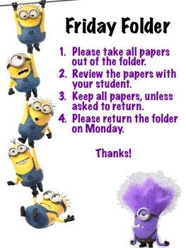 Friday Folder MINION THEME