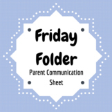 Friday Folder Parent Communication Sheet
