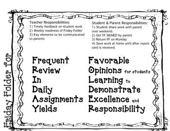 Friday Folder/Parent Communication Tool
