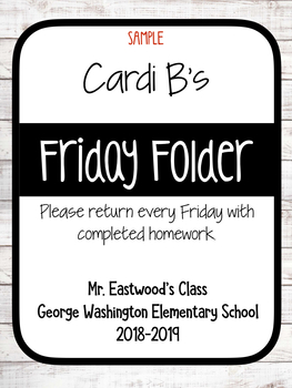 Friday Folders FREEBIE