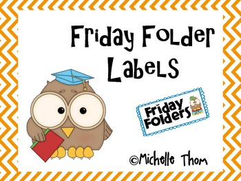 Friday Folders Labels {Organizational Idea} ~ FREEBIE!