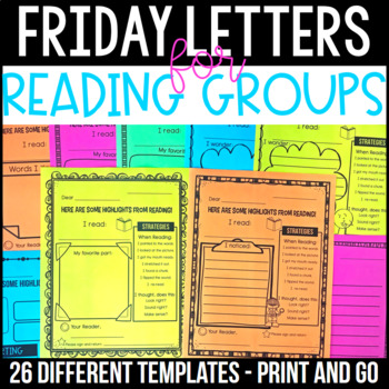 Friday Folders - Letters for Guided Reading Groups