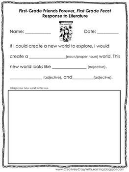 Friday Freebie First Grade Feast Response to Literature
