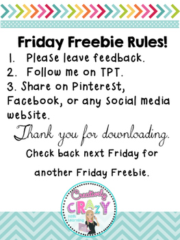 Friday Freebie Missing Addends Practice Page