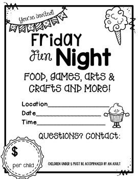 Friday Fun Night Fundraising Kit Free