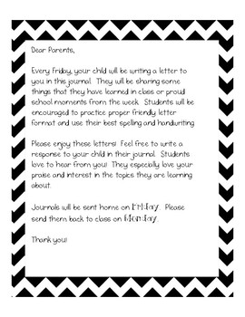 Friday Journal Letter Worksheets & Teaching Resources | TpT