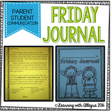 Friday Journal {Parent Student Communication}