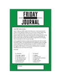 Friday Journal letter label- Personal Narrative Writing, F