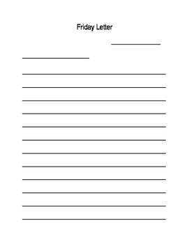Friday Letter Journal Format