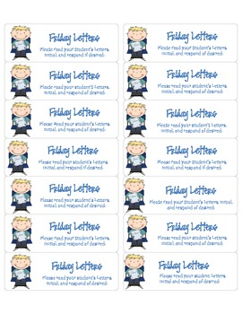 Friday Letter Labels