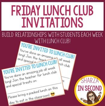 Friday Lunch Club Invitations!