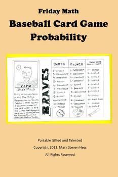 Friday Math -- Baseball Card Probability Game