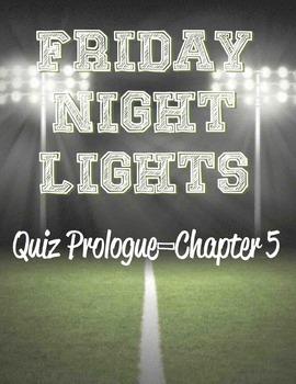 Friday Night Lights Quiz (Prologue-Chapter 5)