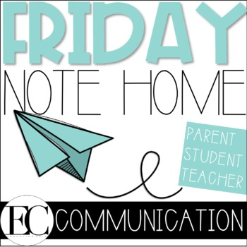 Friday Note Parent Home Communication