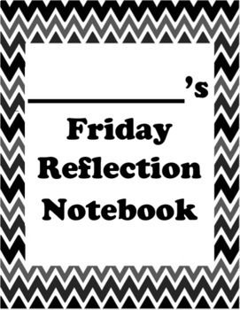 Friday Reflection Letter Notebook *editable*