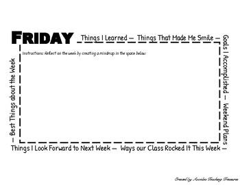 Friday Reflection/Mindmapping Sheet