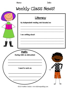 Friday Reports: Weekly Classroom Newsletters for Parent Communication