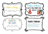 Friday Short Writing Activity Cards