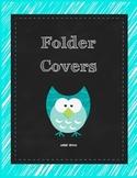 Friday and Homework Folder Covers -- Owl Theme
