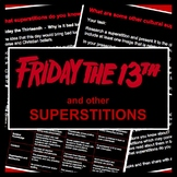 Friday the 13th & Other Superstitions: PowerPoint Presentation & Research Task