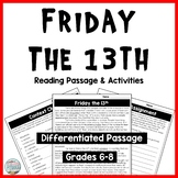 Friday the 13th Differentiated Informational Text Reading Passage & Activities