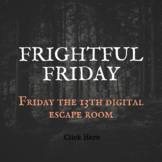 Friday the 13th Freaky Friday Digital Escape Room