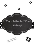 Friday the 13th Informational Text Close Reading