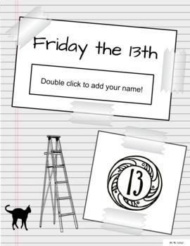 Friday the 13th No Prep History & Activities