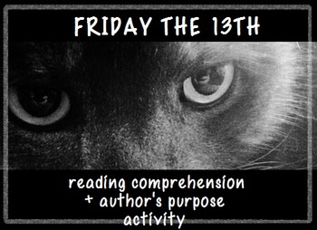 Friday the 13th Reading Comprehension Activity