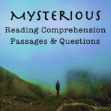 Mysterious Reading Comprehension Passages and Questions