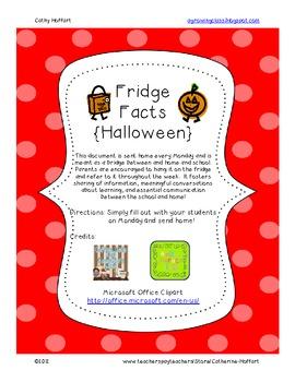 Fridge Facts {Halloween}