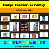 Fridge, Freezer, or Pantry? Sorting Groceries