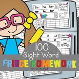 Sight Word Homework Worksheets - Fun Way to Learn