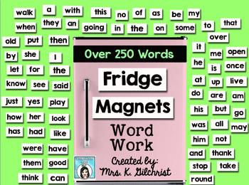 Fridge Magnets Word Work Promethean ActivInspire Flipchart Lesson