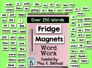 Fridge Magnets Word Work Promethean ActivInspire Flipchart Lesson