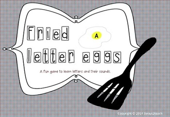 Fried letter eggs