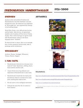 Friedensreich Hundertwasser Informational Worksheet
