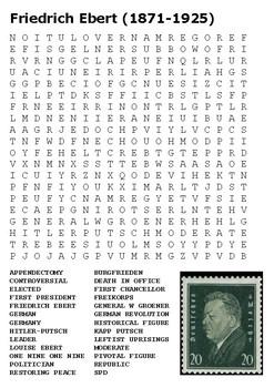 Friedrich Ebert Weimar Republic Word Search