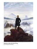 Friedrich Wanderer above the Sea of Fog Romantic Era