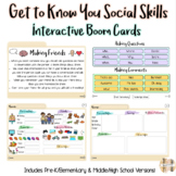 Get to Know You Social Skills (Interactive Boom Cards)