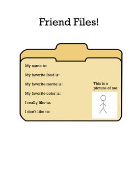 Friend Files - Social Skills Lesson