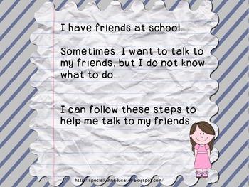 Friend Social Story Bundle