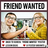Friend Wanted: Back to School Activity