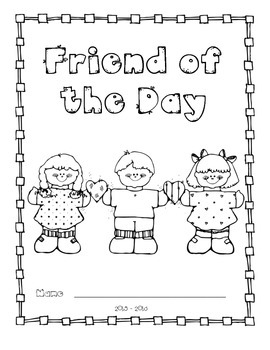 Friend of the Day Journal Cover
