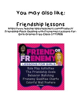 Friend or Frenemy Drama Free Class Poster
