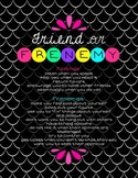 Friend or Frenemy Drama Free Class Poster